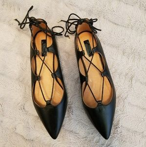 Topshop Laceup Pointed Toe Shoes